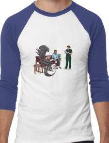 Alien Takes Jonesy to the Vet Men's Baseball ¾ T-Shirt