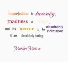 Marilyn Monroe Quote Baby Tee