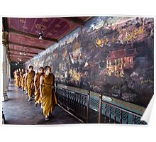 Monks And Murals Poster