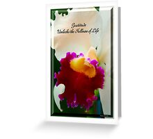 Gratitude Unlocks The Fullness Of Life Greeting Card