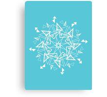 Snowflake - Triangles Canvas Print