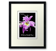 Gratitude Gives Us A Full And Thankfull Heart Framed Print