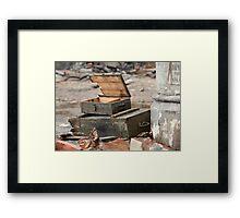 empty  military chest Framed Print