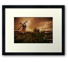Thurne Wind Pump old master  Framed Print