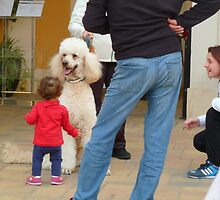 Child and Dog by Janone