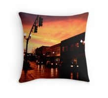 Red Sky at Dusk Throw Pillow