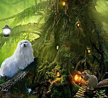 Snowdrop the Maltese  & Harry the Squirrel by Morag Bates