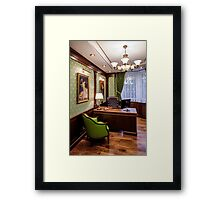 Luxury office Framed Print