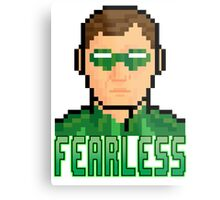 "8 Bit Headshots ""Fearless"" Metal Print"