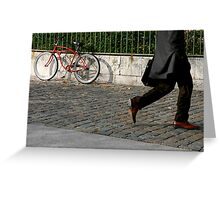 walking by Greeting Card