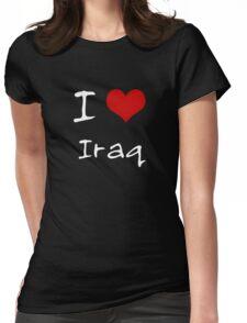 I love Heart Iraq Womens Fitted T-Shirt