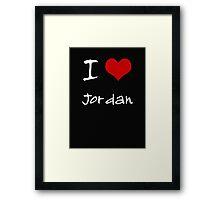 I love Heart Jordan Framed Print