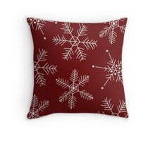 Snowflake Mix Option 2 Throw Pillow