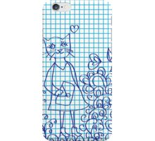 abstract pattern with cat iPhone Case/Skin