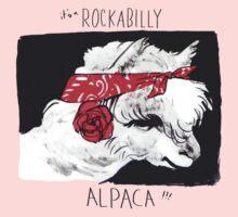 Rockabilly Alpaca, from the Camelid scene  Kids Tee