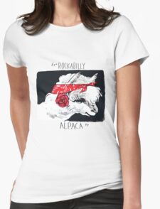 Rockabilly Alpaca, from the Camelid scene  Womens Fitted T-Shirt
