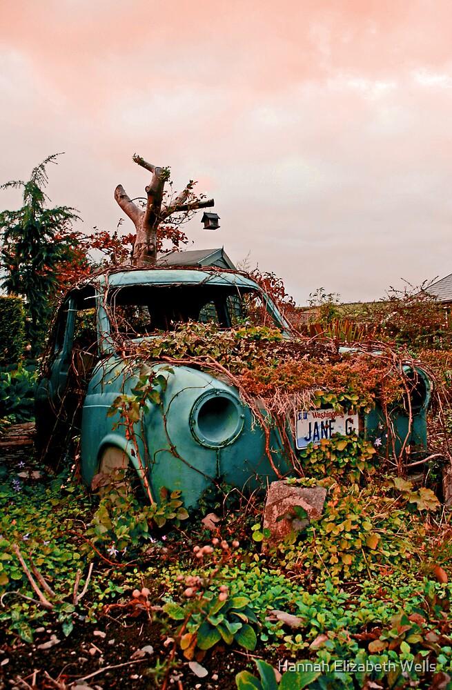 Overgrown car by Hannah Elizabeth Wells
