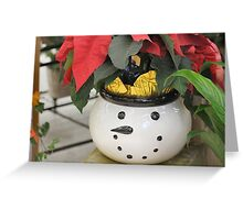 Smiley Snow Man Greeting Card