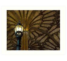Great Hall Staircase Light Art Print