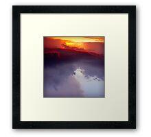 Fire.Ocean.Sky Framed Print