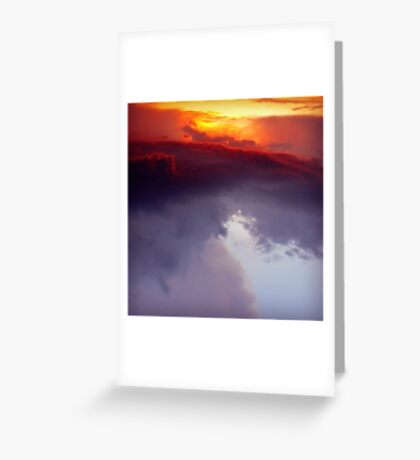 Fire.Ocean.Sky Greeting Card