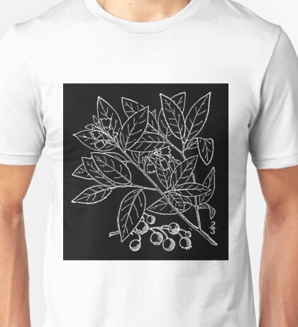 Britton And Brown Illustrated flora of the northern states and Canada 1563 Vaccinium pallidum Aiton Blue ridge blueberry Unisex T-Shirt
