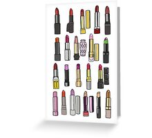 Your favorite lipstick collection Greeting Card