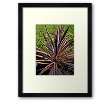Comic Abstract Spike Plant Framed Print