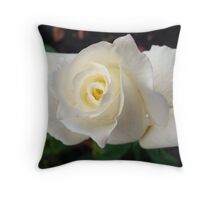 White and Pure Throw Pillow