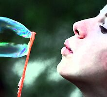 Blowing Bubbles by Lee Anne French