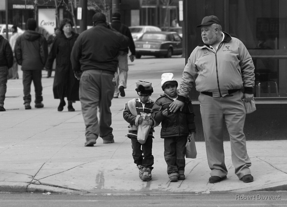 Walking with Grandpa by Robert Daveant