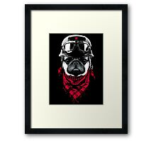 Adventurer Pug Framed Print