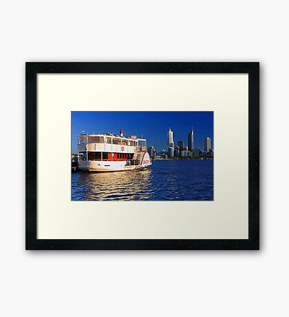 Paddle Steamer Decoy - Perth Western Australia  Framed Print