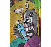 Angry cartoon street art guy, Cork Photographic Print