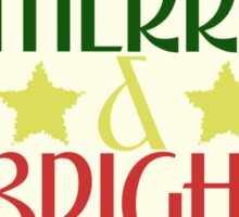 Merry and Bright Christmas Sticker