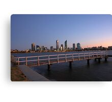 Perth At Dawn Canvas Print