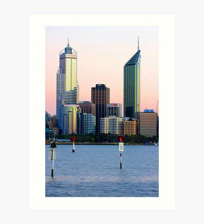 Perth Towers At Sunrise  Art Print