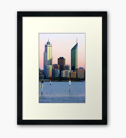 Perth Towers At Sunrise  Framed Print