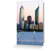 Perth Towers At Sunrise  Greeting Card