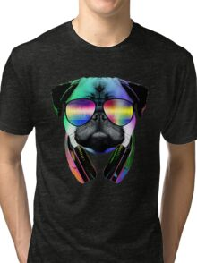 Music Love Pug Tri-blend T-Shirt