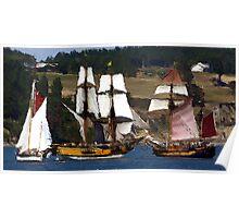 Penn Cove Sailing Ships Poster
