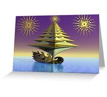 Peace tree boat Greeting Card
