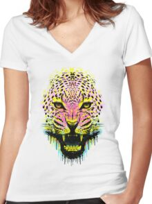 The Panther Women's Fitted V-Neck T-Shirt