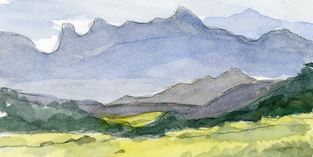 Watercolor Landscape by bluerabbit