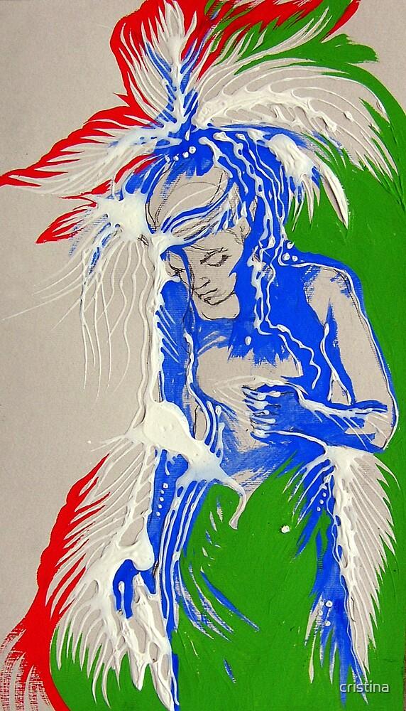 blue bird inside by cristina