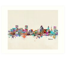 Baltimore Maryland Art Print