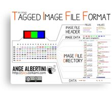 .TIFF : Tagged Image File Format (big endian) Canvas Print