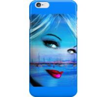 Blue Eyes Blue iPhone Case/Skin