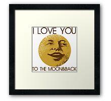 Vintage moon love Framed Print