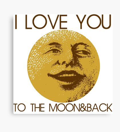 Vintage moon love Canvas Print